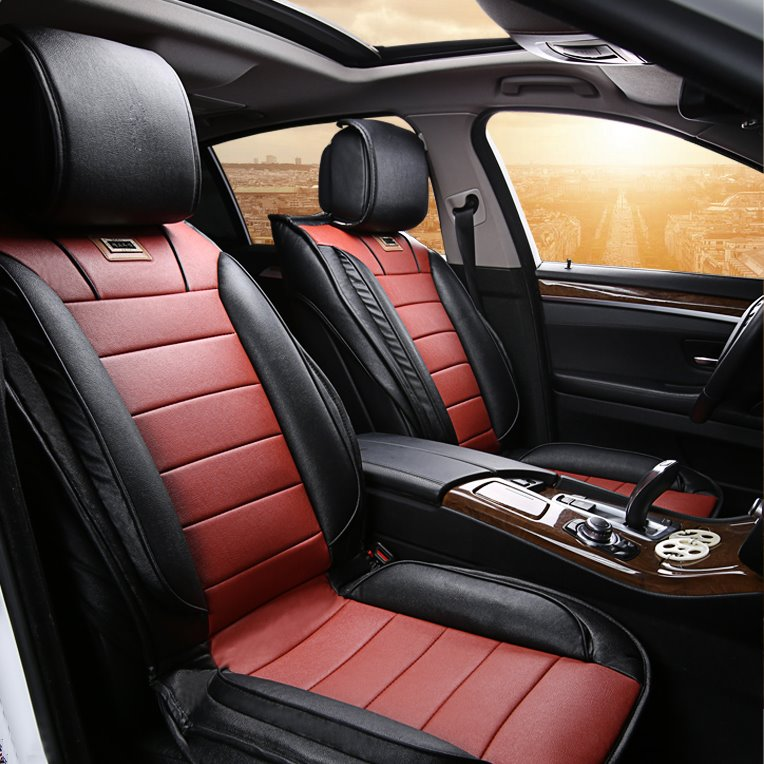 classic design contrast color sport styled universal car seat cover. Black Bedroom Furniture Sets. Home Design Ideas