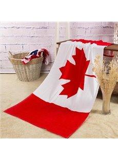 Creative Fashion Canada Flag Pattern Bath Towel