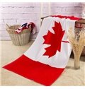 Creative Fashion Canada Flag Pattern Bath Towel