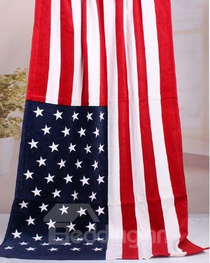 Novel Fashion American Flag Pattern Bath Towel