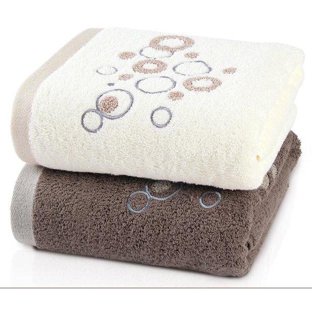 Concise Raindrop Pattern Full Cotton Bath Towel
