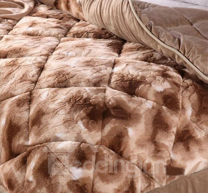 Skincare Short Plush Material Solid Color Soft and Comfortable Quilt