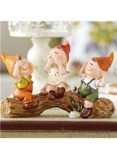Popular Fantastic Resin Three Nots elves Suspending Doll
