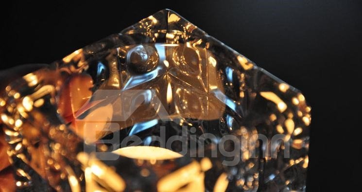 Beautiful Ice Modelling Crystal Glass Small Candles Holder