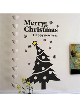 Beautiful Merry Christmas Tree Removable Wall Stickers