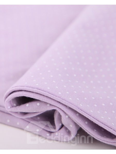 Sweet Lilac Cute Dots Pure Cotton Pajamas Set