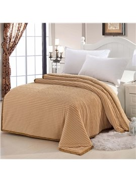 Solid Color Short Plush Material Super Soft Thicken Blanket