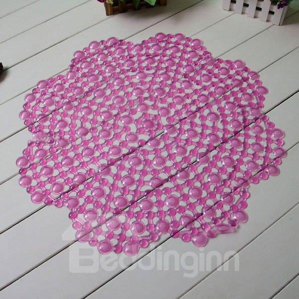Novel Floral Design PVC Skidproof Bath Rug