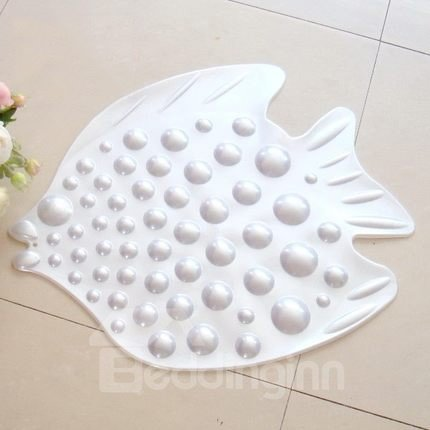 Adorable  Bubble Fish Design Skidproof Bath Rug