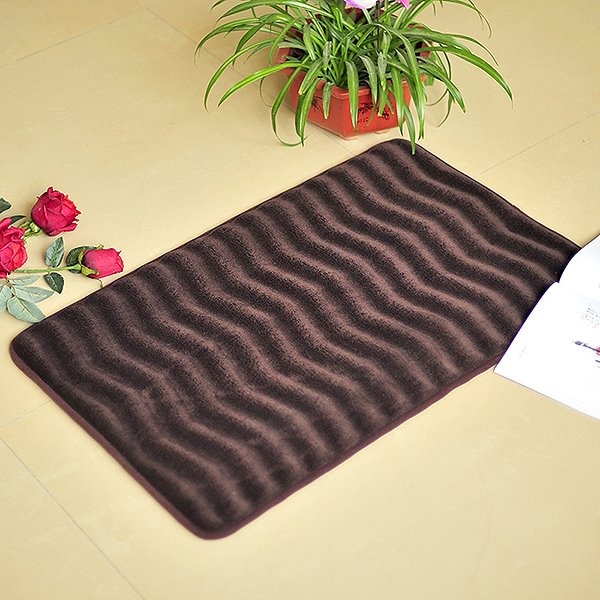 Unique Comfy Wave Pattern Suede Bath Rug