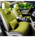 Concise Style Soft Cotton Material Solid Color Car Seat Cover
