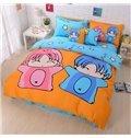 Super Cute Gemini Print 4-Piece Cotton Duvet Cover Sets
