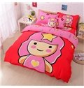 Cute Virgo Baby Print 4-Piece Cotton Duvet Cover Sets