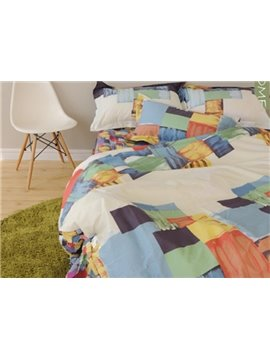 European Style Contemporary 100% Cotton Duvet Cover Sets