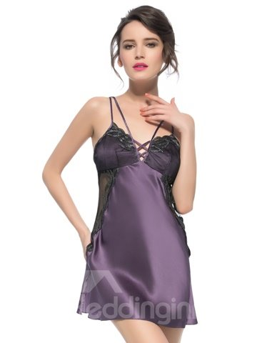 Wonderful Multi Strap and Lace Stitched with Silk Chemise