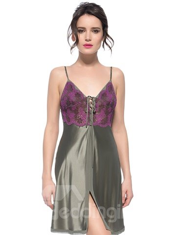 Top Class Smooth Lace Trim Bust Silk Chemise