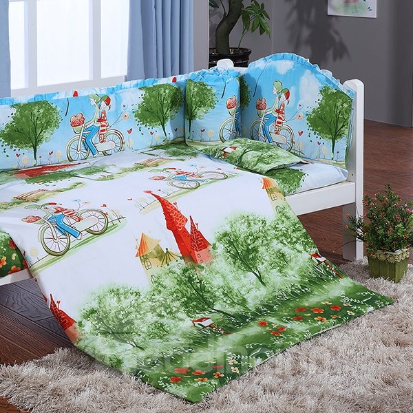 Grimm S Fairy Tales Print 9 Piece Crib Bedding Sets
