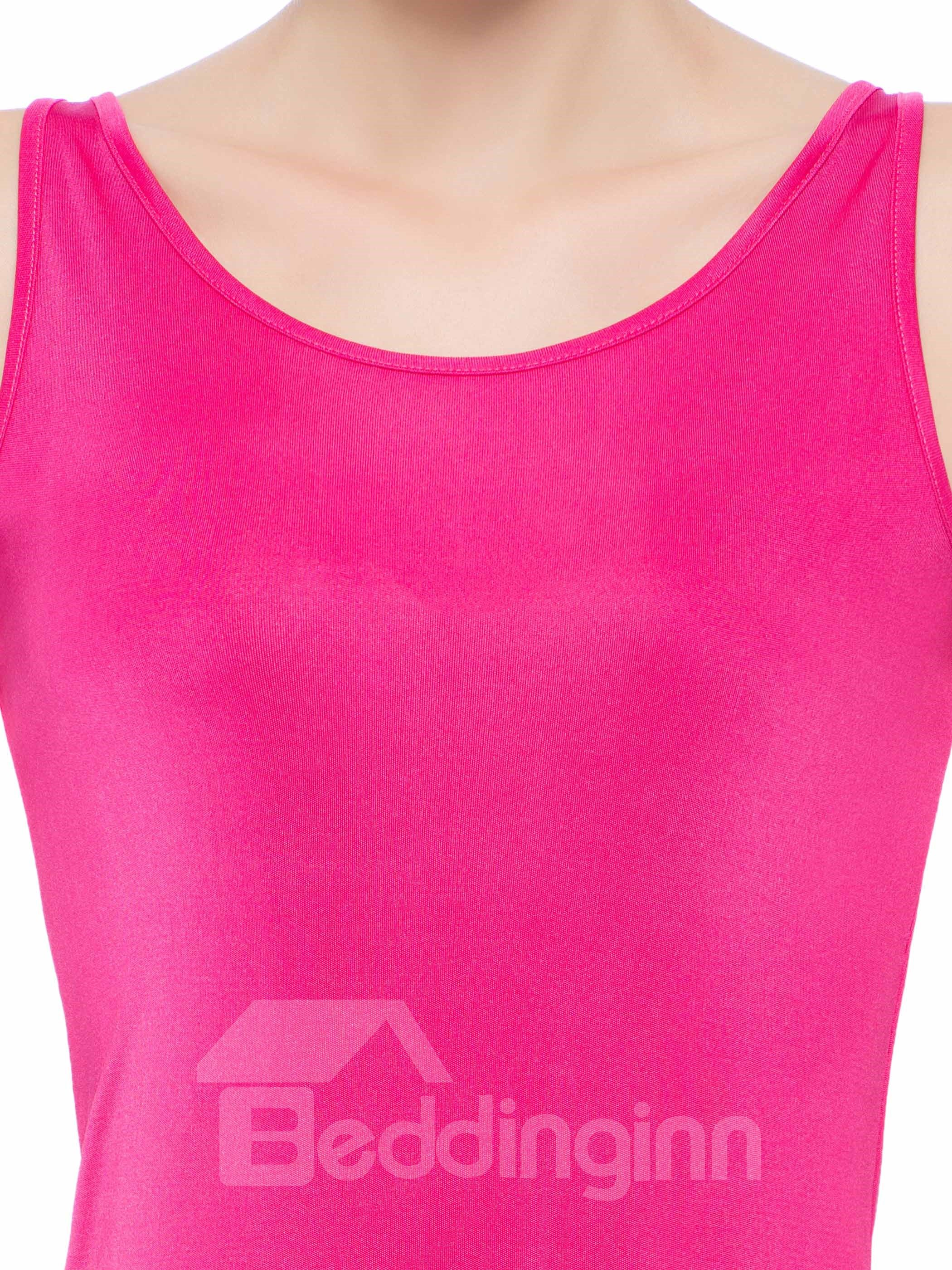 High Quality Beautiful Pink Bottom Covered Wide Strap Silk Camisole