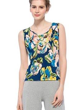 Top Quality Wonderful Flowers Print Silk Camisole