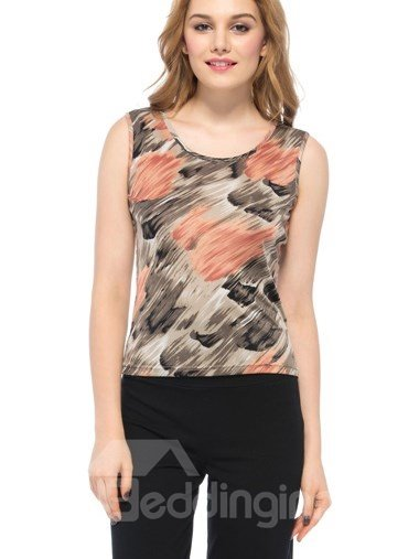 Best Selling Stylish Floral Printing Silk Camisole
