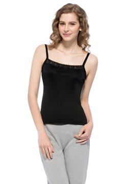 Pretty Wonderful Black Square Neck Strap Camisole