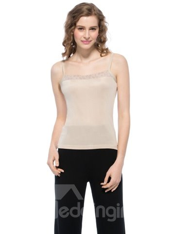 Top Selling Wonderful Beige Square Neck Strap Camisole