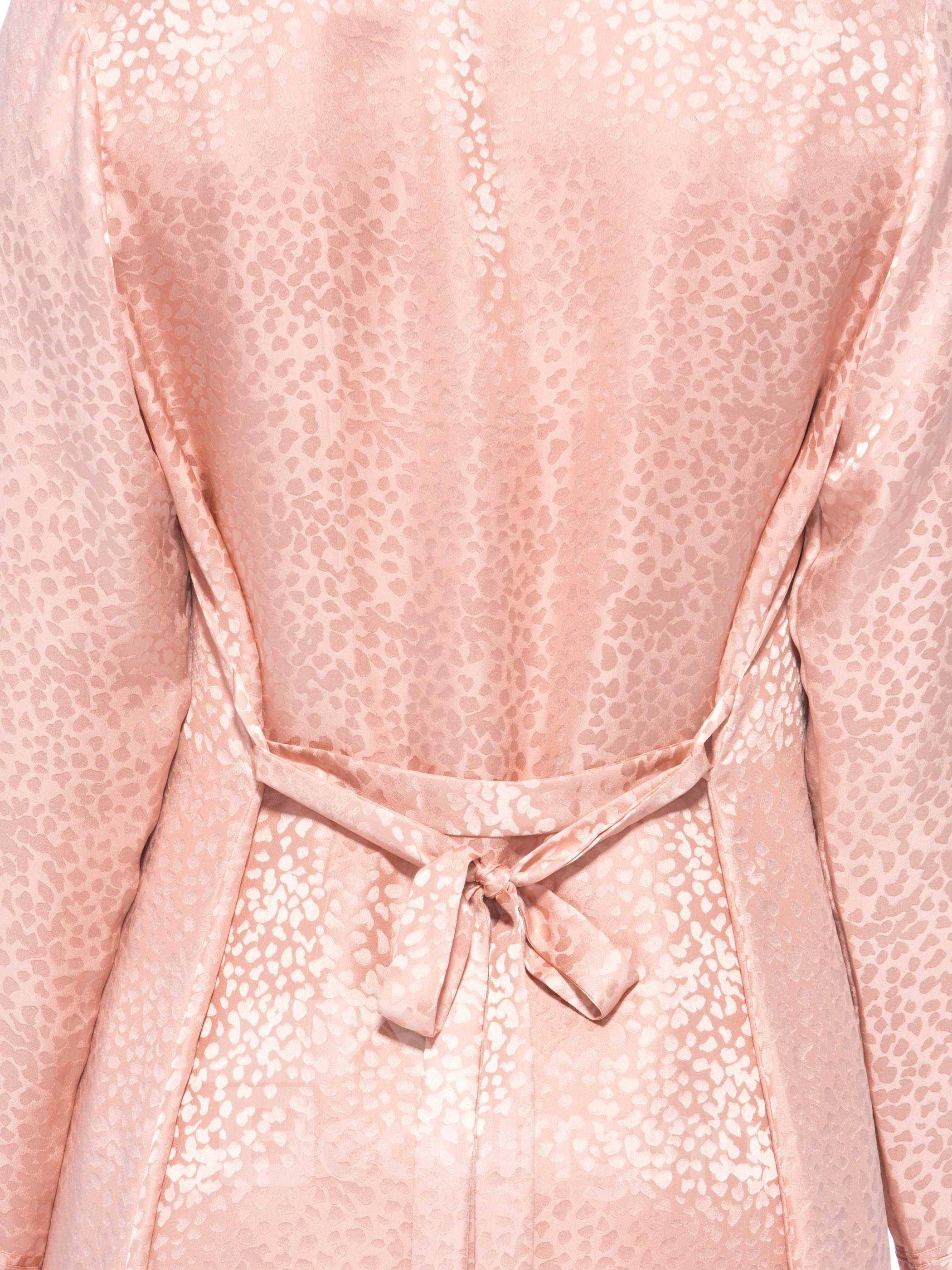 Unique Design Notched Collar Belted Robe Set