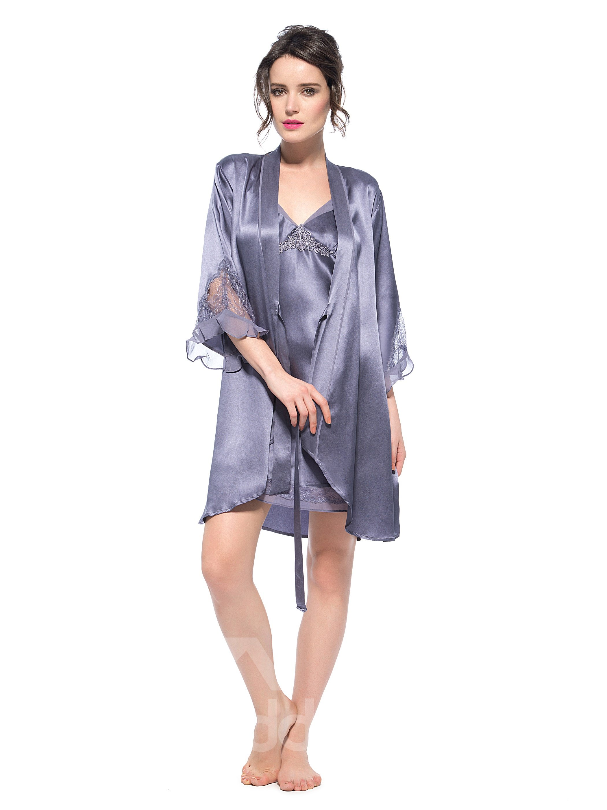 Pretty Good Top Selling Silk Robe and Chemise Sets