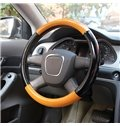 Concise Style Black And Bright Color Matching Pattern Steering Wheel Covers