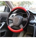 Thick Concise Style Black And Bright Color Matching Pattern Steering Wheel Covers