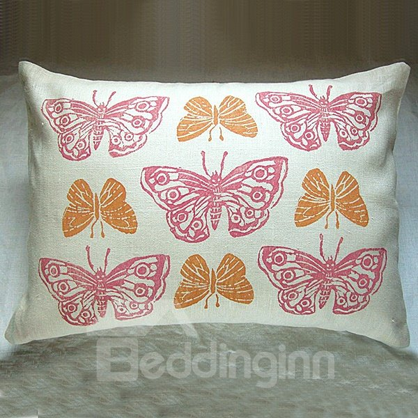 Lovely Beautiful Nine Butterfly Pattern Soft and Comfortable Throw Pillow