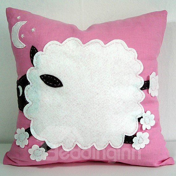 Gorgeous Snow White Sleep Pink Background Pattern Throw Pillow