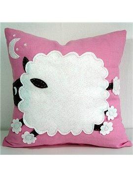 Gorgeous Snow White Sleep Pink Background Pattern Throw Pillow