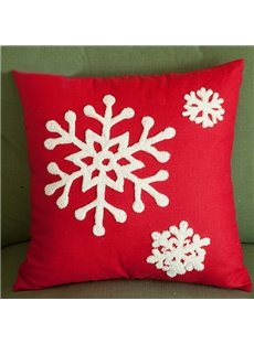 Joyous Christmas Gift Snowflakes Pattern Creative Throw Pillowcases