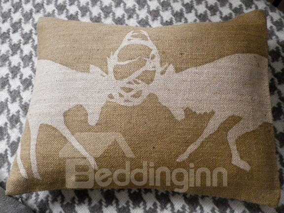 Creative Two Fighting Deer Pattern Super Soft and Comfortable Bed Pillow