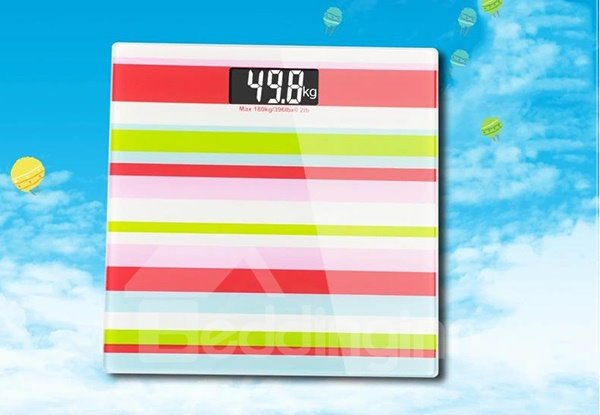 Chic Contemporary Stripe Pattern Accurate Weight Scale