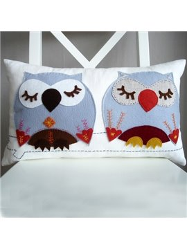 Cute and Lovely Daze Owls Pattern Super Soft Throw Pillow