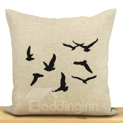 Amazing Gorgeous Wild Goose Pattern Throw Pillow