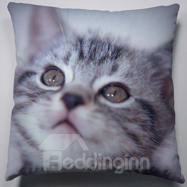 Fashion Creative Daze Gray Cat Pattern Throw Pillow