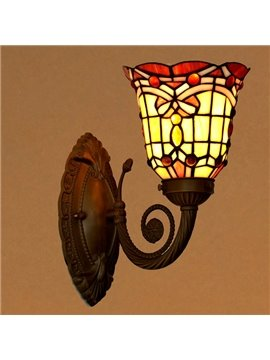 Deluxe Baroque Style Art with 1 Light Tiffany Wall Light