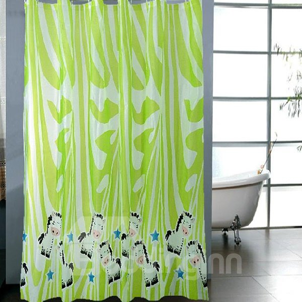 Cute Cartoon Horse Pattern Graceful Shower Curtain