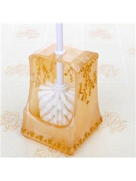 Creative Pretty Resin Golden Toilet Brush Holder
