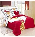 The Giraffe Prince Print 4-Piece 100% Cotton Duvet Cover Sets