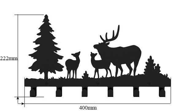 Creative Deer Frost Image Steel Coat Hook