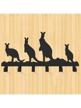 Adorable Novel Kangaroo Design Steel Coat Hook