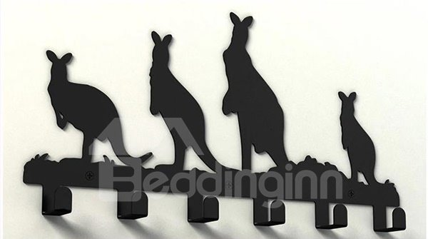 Adorable Novel Kangaroo Design Steel Coat Hook