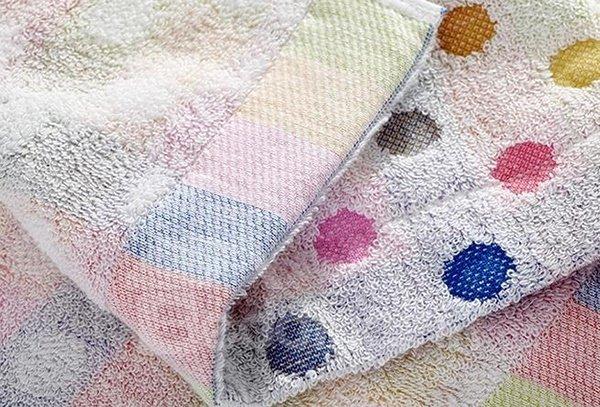 Comfy Colorful Dots Style Cotton Bath Towel