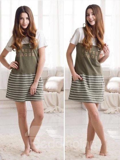 Comfortable Cotton Women Mid-length Sleepshirt
