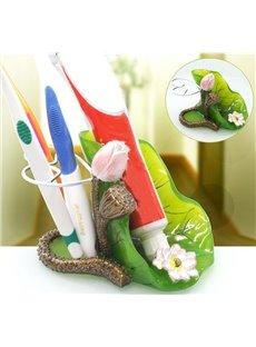 Graceful Beautiful Decorative Lotus Design Toothbrush Holder