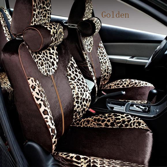 Soft and Sexy Leopard Stripes Pattern Soft Universal Car Seat Covers